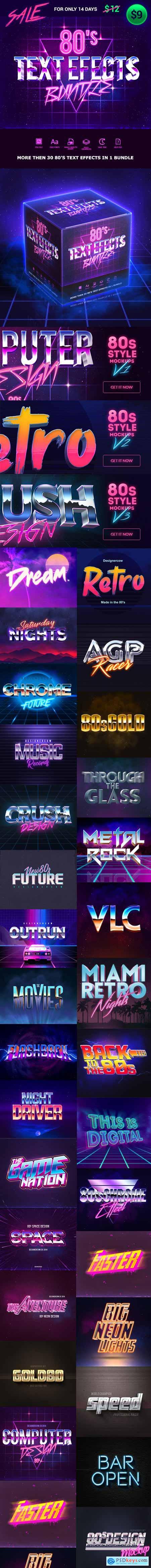 GraphicRiver 80s Text Effects Bundle