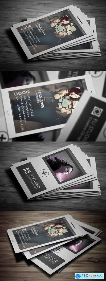 CreativeMarket Photography Business Card