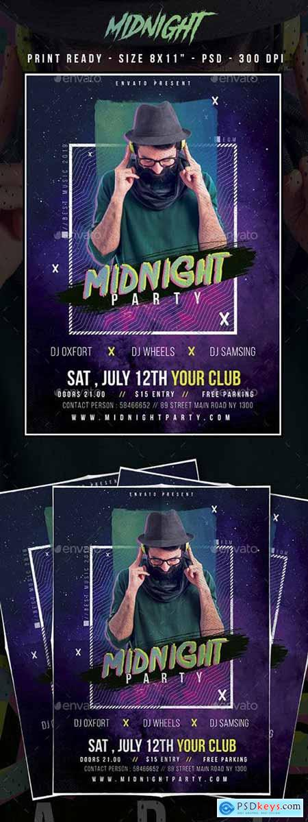 GraphicRiver MidNight Club Party Flyer 23164022