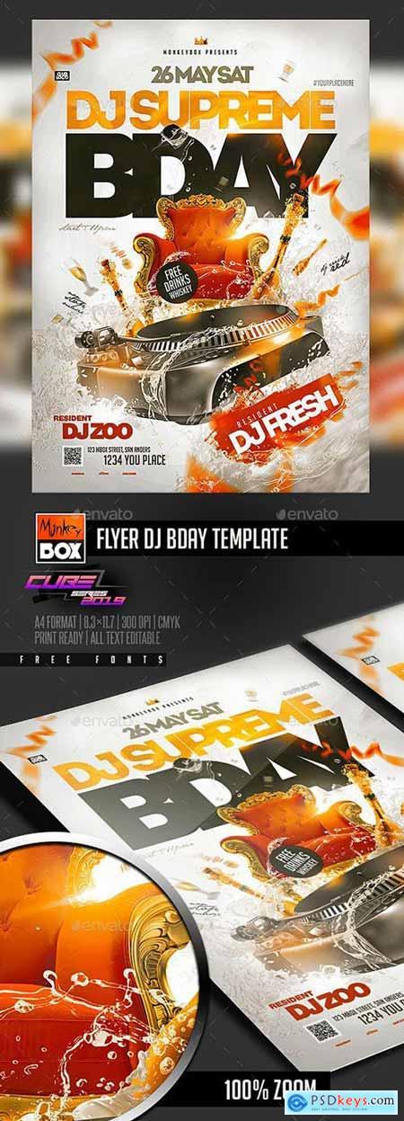 GraphicRiver Flyer Dj Bday Template