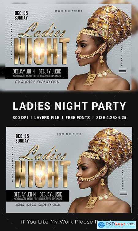 GraphicRiver Ladies Night Club Flyer 23152761