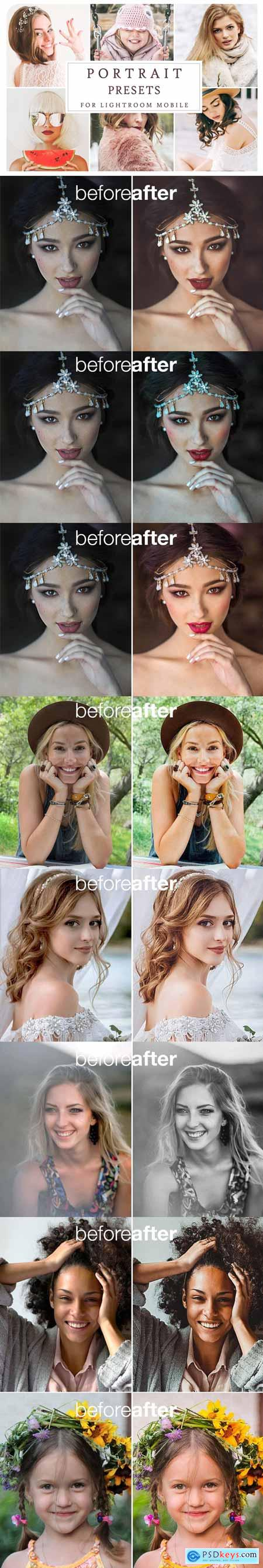 CreativeMarket Lightroom Mobile PORTRAIT PRESETS