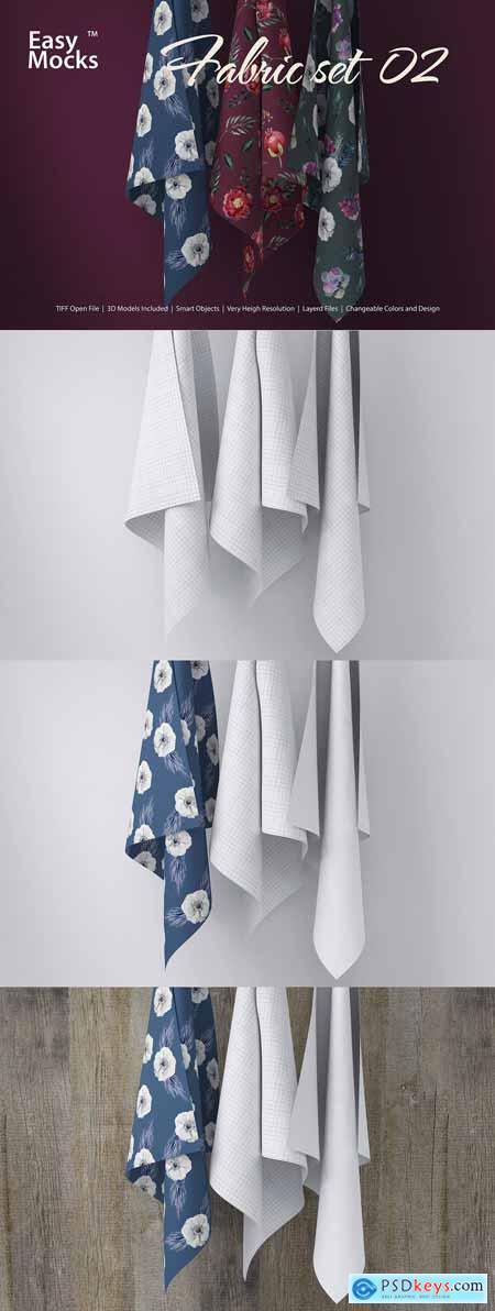 CreativeMarket Fabric Mockup set 02