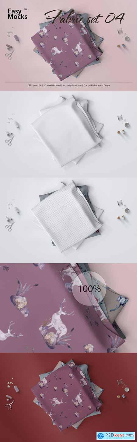 CreativeMarket Fabric Mockup set 04
