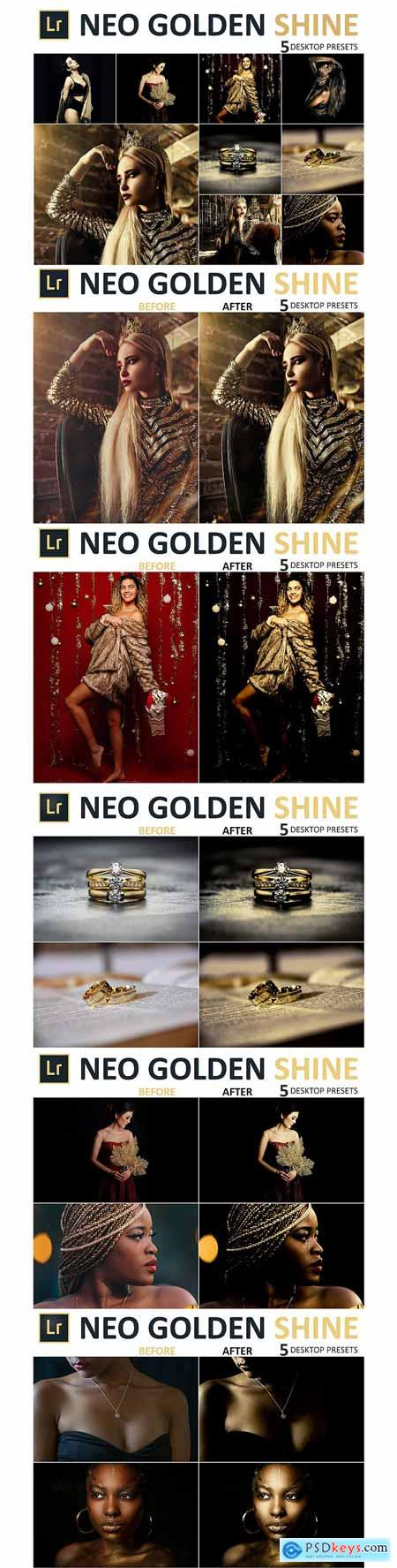 Designbundles Neo Golden Shine Desktop Lightroom Presets