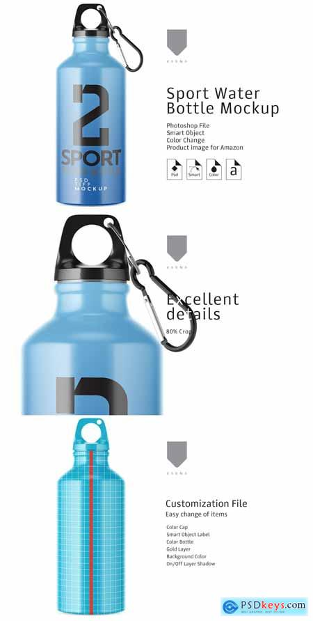 Creativemarket Sport Water Bottle Mockup