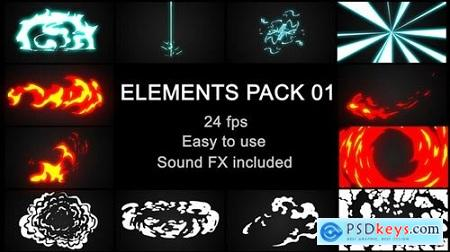 Videohive Flash FX Elements Pack 01 23211856 Free After Effects Project
