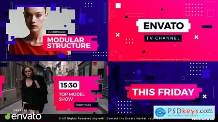 Videohive Active Glitch Broadcast Package