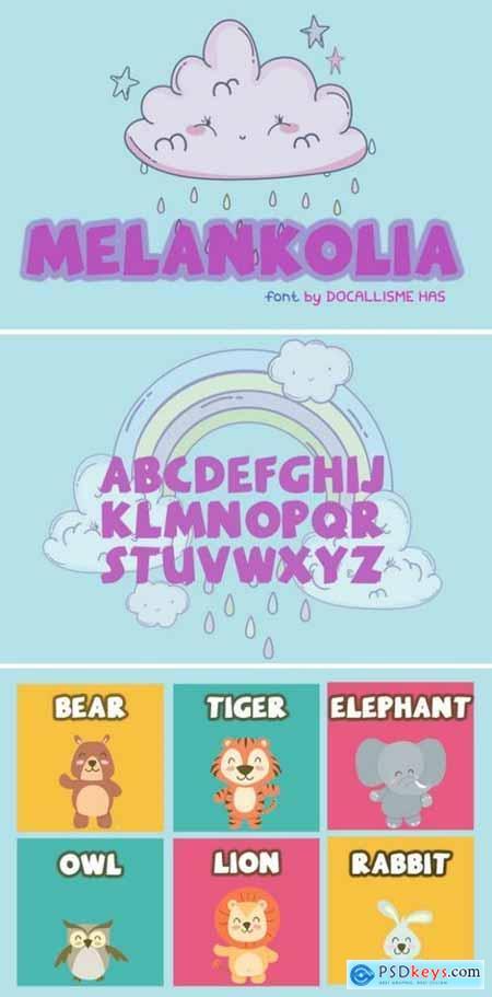 Melankolia Font