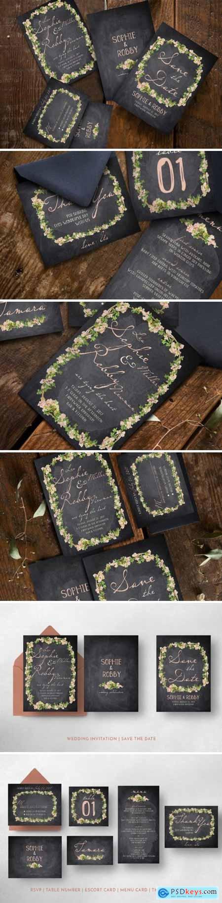 Creativemarket Vintage Flower Wedding Suite 847414