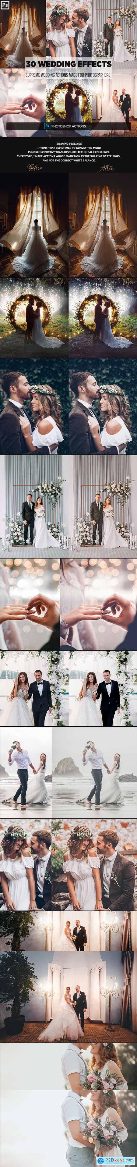 GraphicRiver 30 Wedding Photoshop Effects