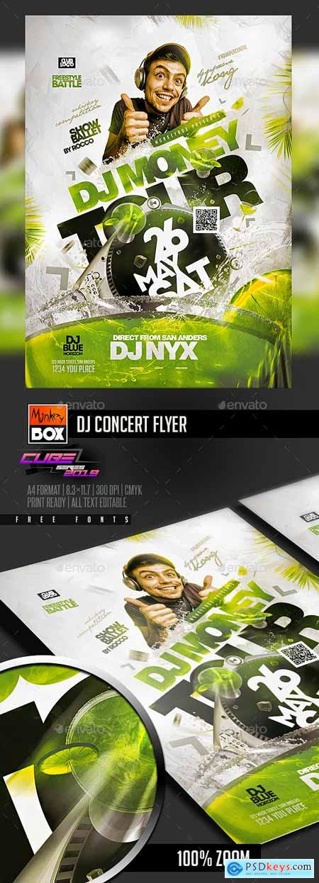 GraphicRiver Dj Concert Flyer