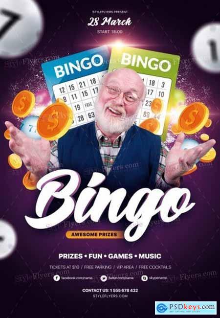 Bingo PSD 18 Flyer Template