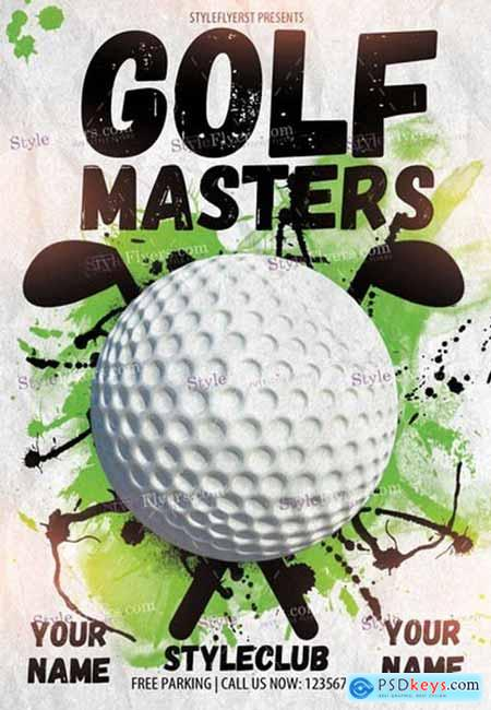 Golf Masters 5 PSD Flyer Template