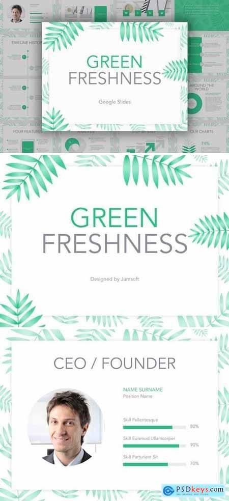 Green Freshness Google Slides Template
