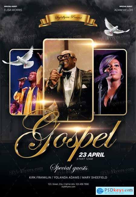 Gospel PSD 3 Flyer Template