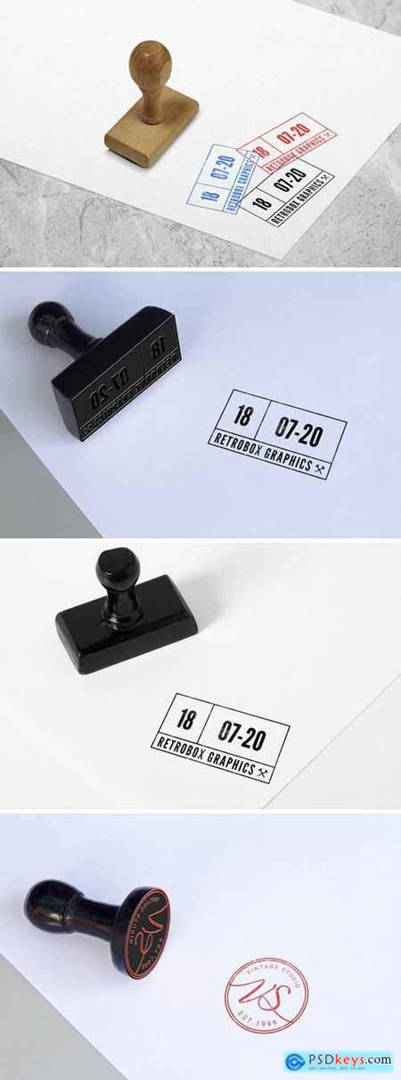 Multipurpose Rubber Stamps Mock Up