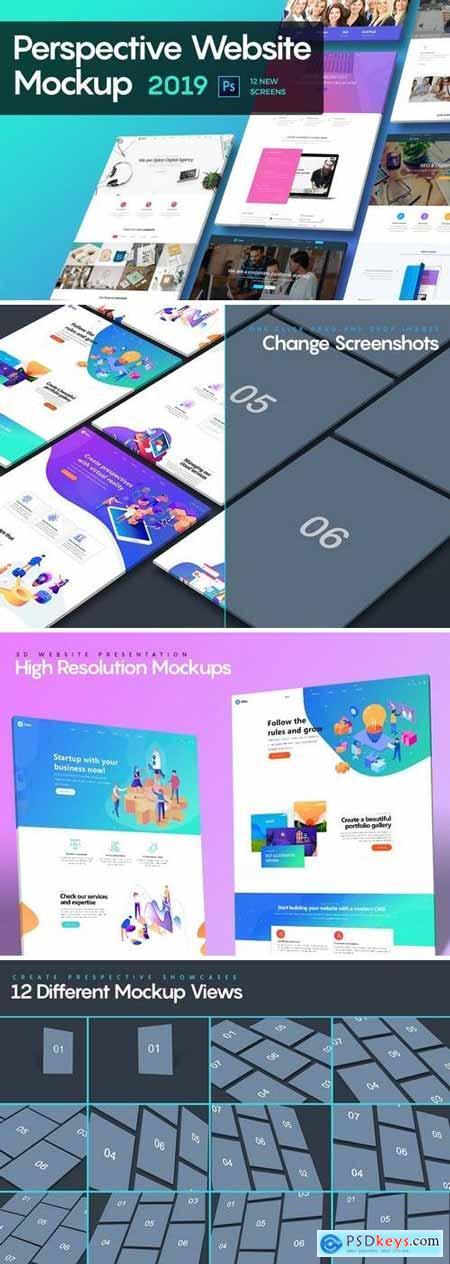 Perspective Website Mockup 2019