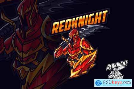 Red Knight Mascot Esports and Sports Logo
