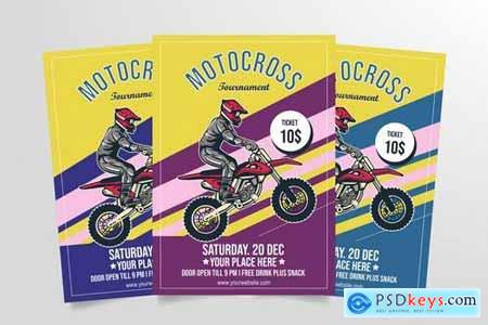 Motocross Tournament Flyer Template