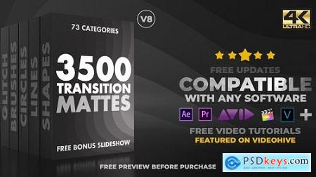 Videohive Ultimate Transition Mattes Pack V8