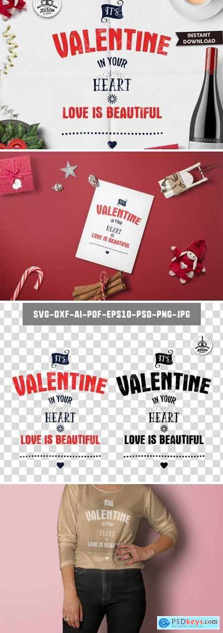 Creativemarket Valentines Day Lettering Typography Overlay SVG