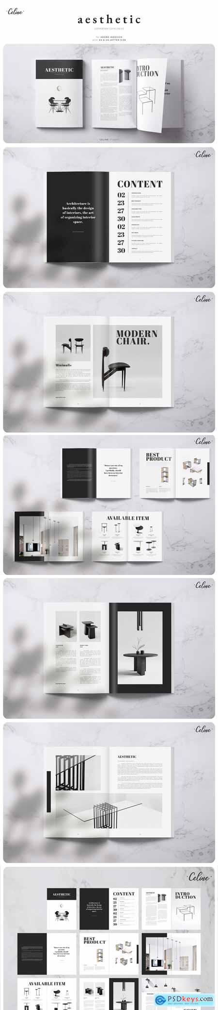 CreativeMarket Aesthetic Lookbook Catalogue