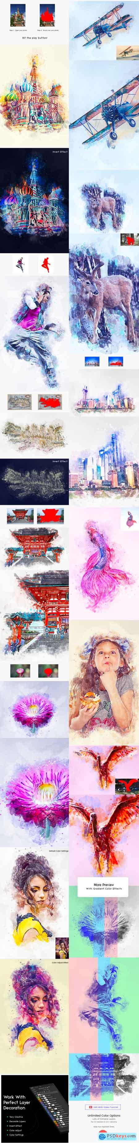 Graphicriver Creative Watercolor Paint Action