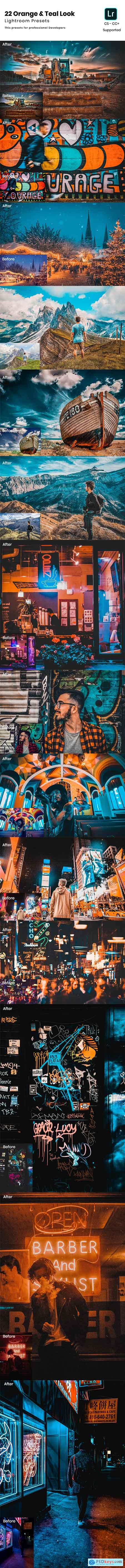 GraphicRiver 22 Orange & Teal Look Lightroom Preset