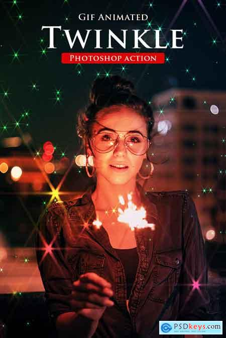 GraphicRiver Gif Animated Twinkle Photoshop Action