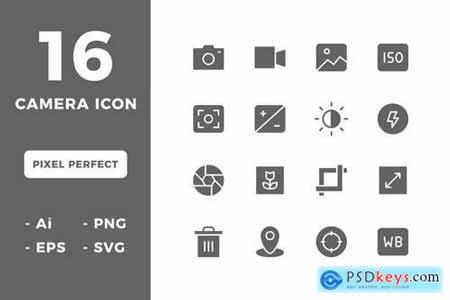16 Camera Icons (Solid)
