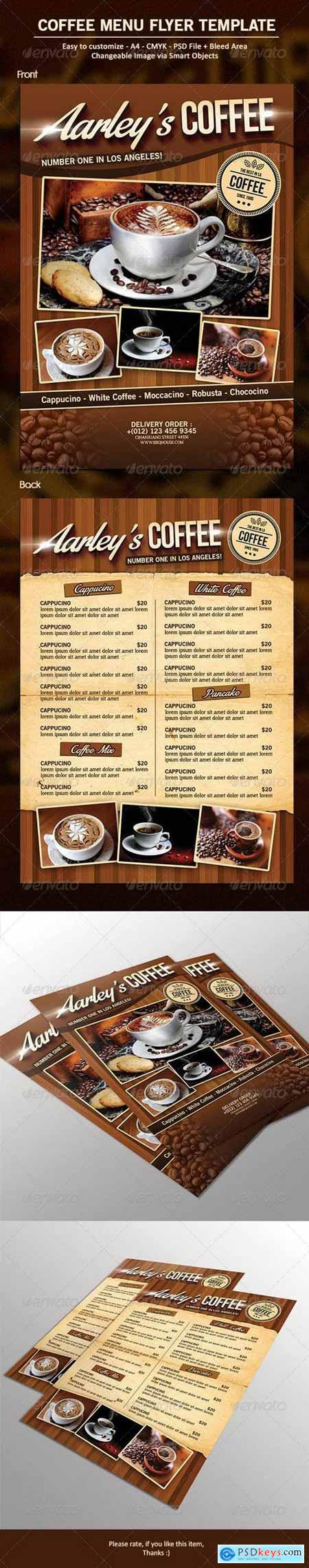 Graphicriver Coffee Menu Flyer