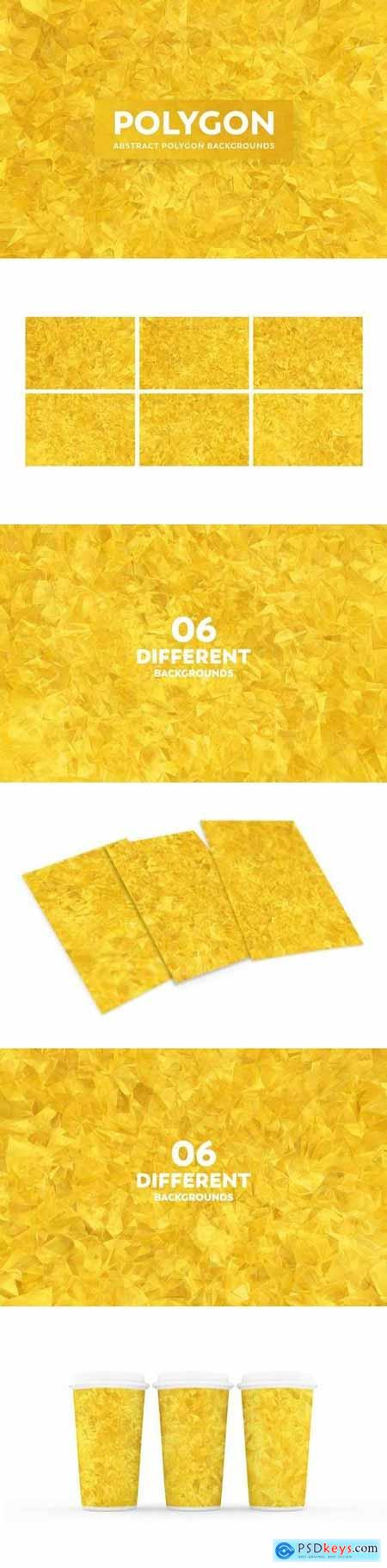 Abstract Polygon Backgrounds - Gold Color