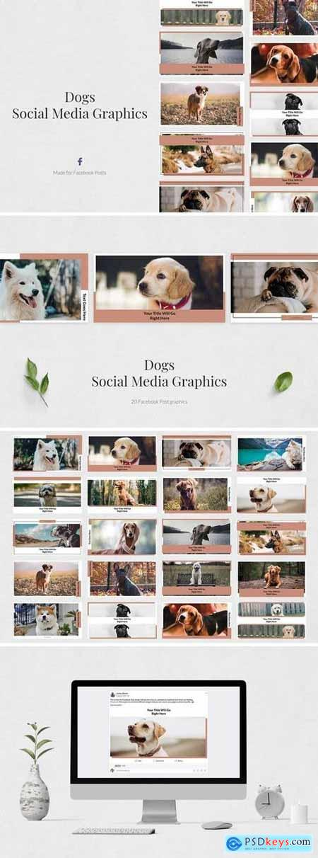 Creativemarket Dogs Facebook Posts