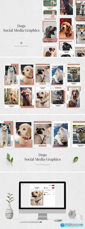 Creativemarket Dogs Pinterest Posts
