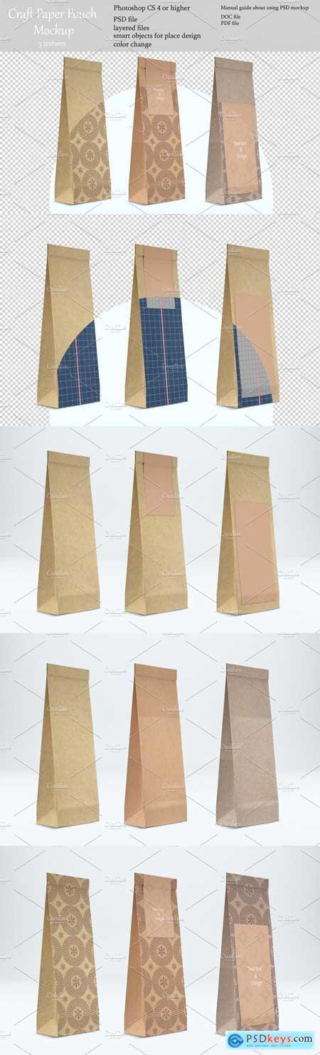 Creativemarket Craft pouch mockup PSD mockup