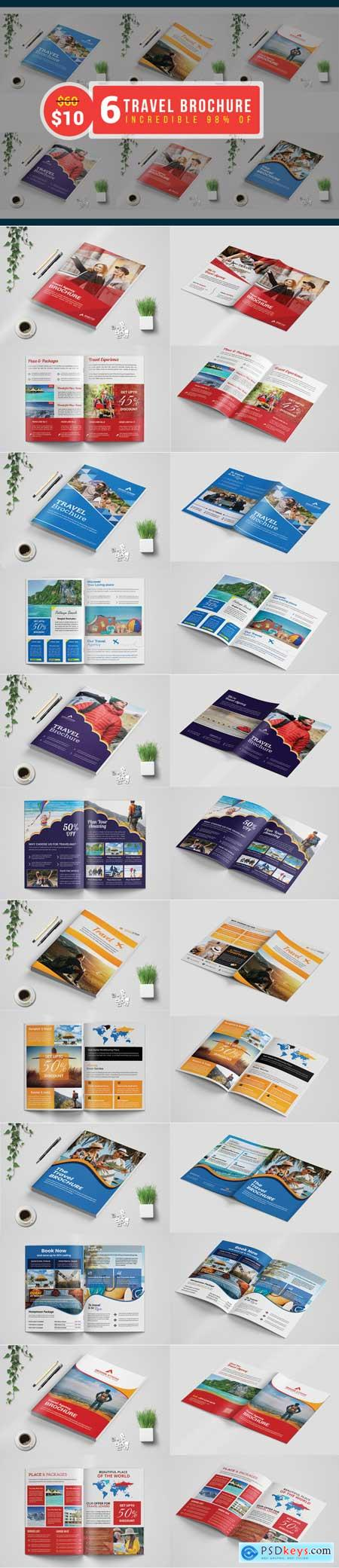 Thehungryjpeg Travel Agency Brochure template Bundle