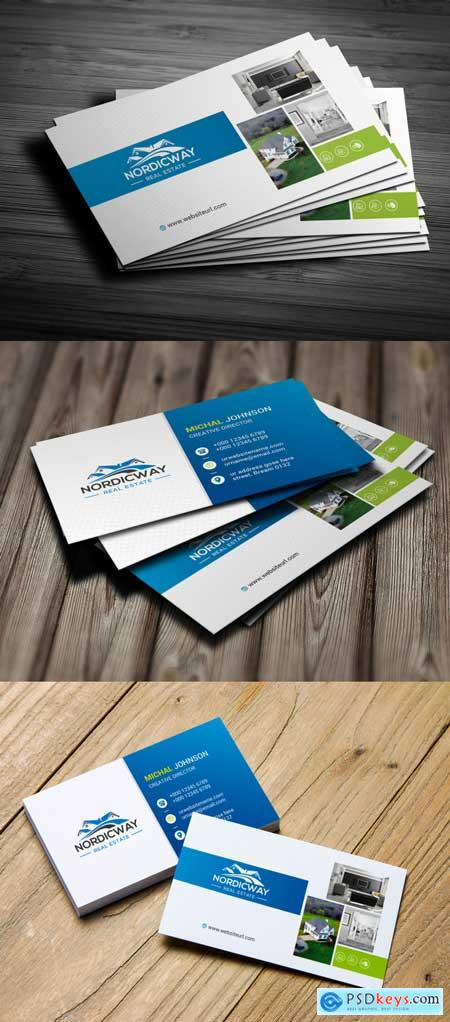 Thehungryjpeg real estate business Card