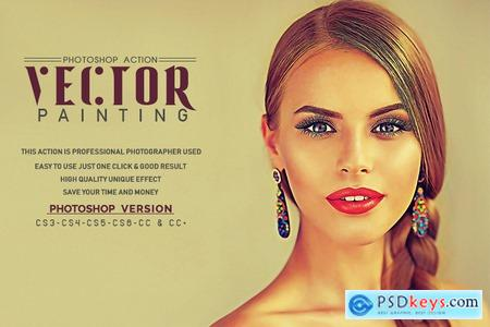 Thehungryjpeg Vector Painting Photoshop Action