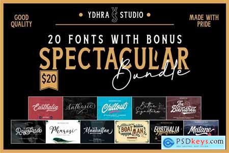 Creativemarket Spectacular Bundle (20 Fonts+Bonus)