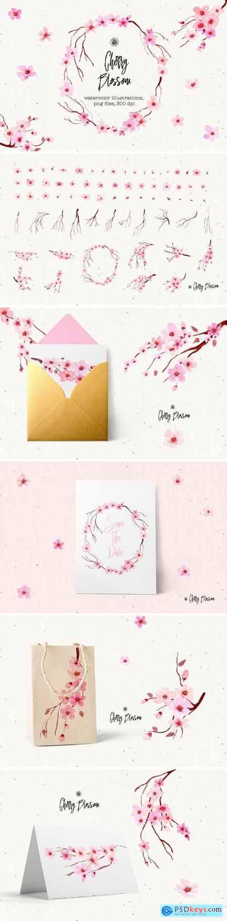 Creativemarket Cherry Blossom Flowers