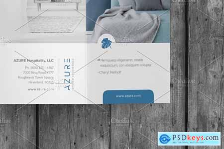 Creativemarket Azure Multipurpose Trifold PSD