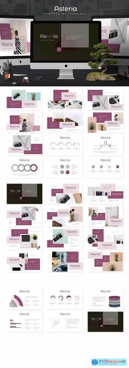 Asteria - Powerpoint, Keynote, Google Sliders Templates