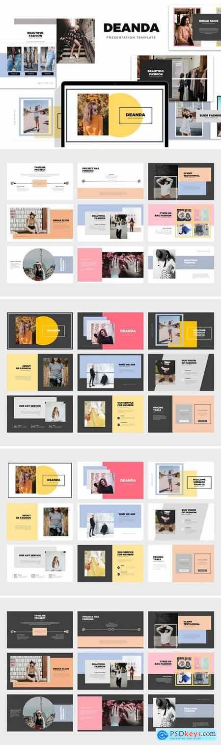 Deanda Fashion, Clothing & Lifestyle - Powerpoint, Keynote, Google Sliders Templates
