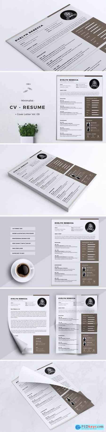 Minimalist CV Resume Vol. 09