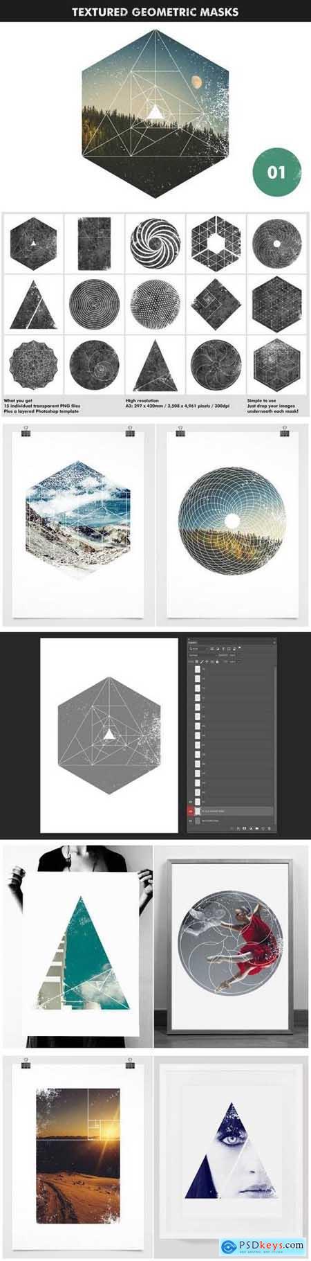 Textured Geometric Masks