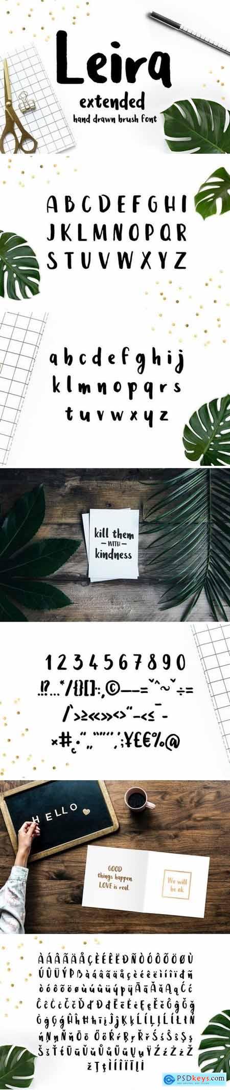 Leira Extended Hand Drawn Brush Font 2700861