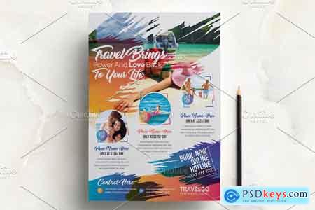 Creativemarket Travel Agency Flyer 3379378