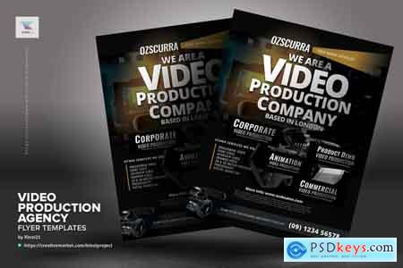 Creativemarket Video Production Agency Flyers