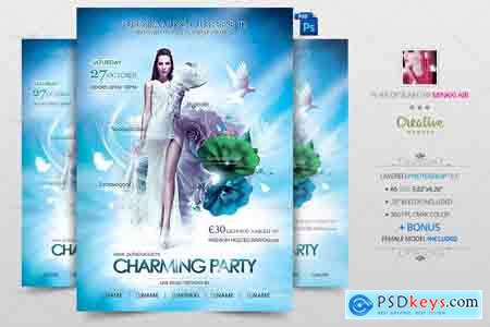 Creativemarket Charming Party Flyer Poster